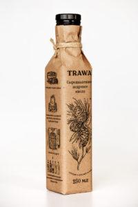 Масло Кедровое Сыродавленное TRAWA бутылка 0,25 ребром