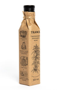 Масло Конопляное Сыродаволенное TRAWA 0,25 бутылка ребром