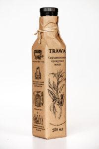 Масло Кунжутное Сыродавленное TRAWA бутылка 0,25 ребром