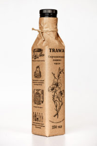 Масло Льняное Сыродавленное TRAWA бутылка 0,25 ребром
