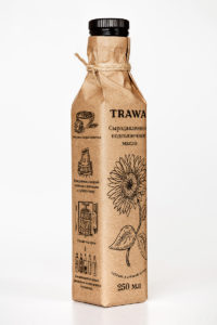 Масло Подсолнечное Сыродавленное TRAWA бутылка 0,25 ребром