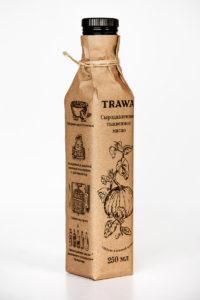 Масло Тыквенное Сыродавленное TRAWA 0,25 бутылка ребром